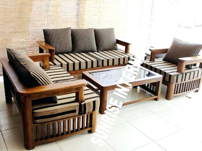 Simple Wooden Sofa Sets For Living Room Wood Sofa Set