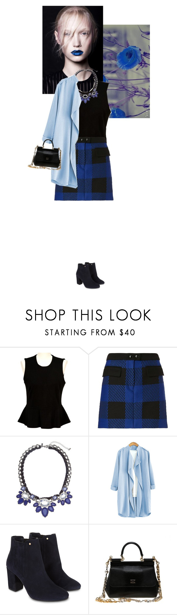 """""""BLUE"""" by doris-knezevic ❤ liked on Polyvore featuring French Connection, rag & bone, Lane Bryant, Monsoon and Dolce&Gabbana"""