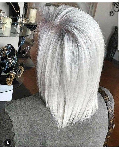 Platinum Mittellang Haar Cabello Weißblonde Haare