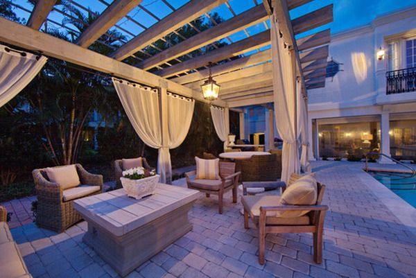 Curtains Ideas cheap patio curtains : Outside Patio Curtains - Rooms