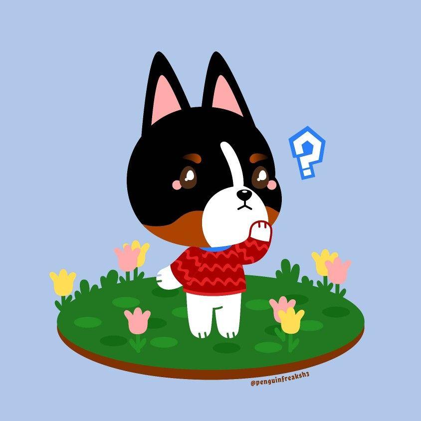 The Wondering Doggo In 2020 Cute Art Animal Crossing Animal