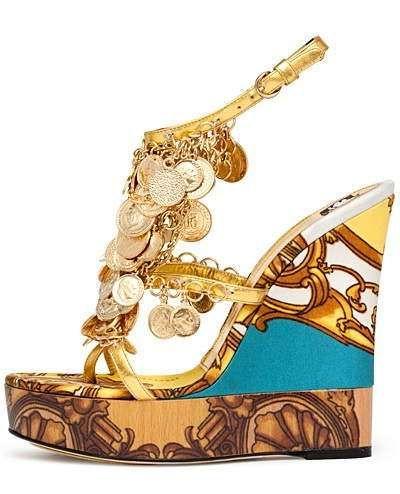 Dolce Gabbana  Boho/Gypsy Style Wedges Spring Summer 2012