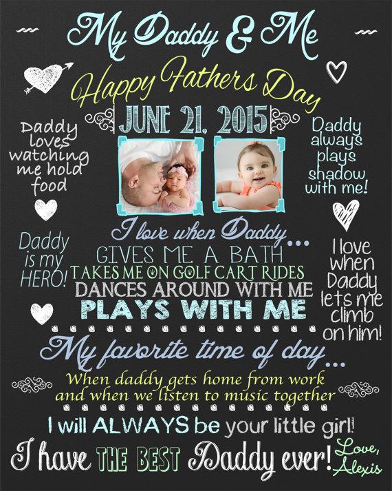 eecf898c6460 Custom Gift for fathers day - Personalized Chalkboard for fathers day -  custom board with picture -