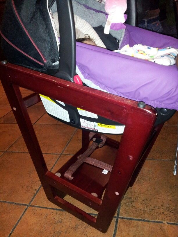 Had Anyone Seen This Done Before Restaurant High Chair Flipped Upside Down For The Car Seat Baby Chair Child Passenger Safety Car Seats
