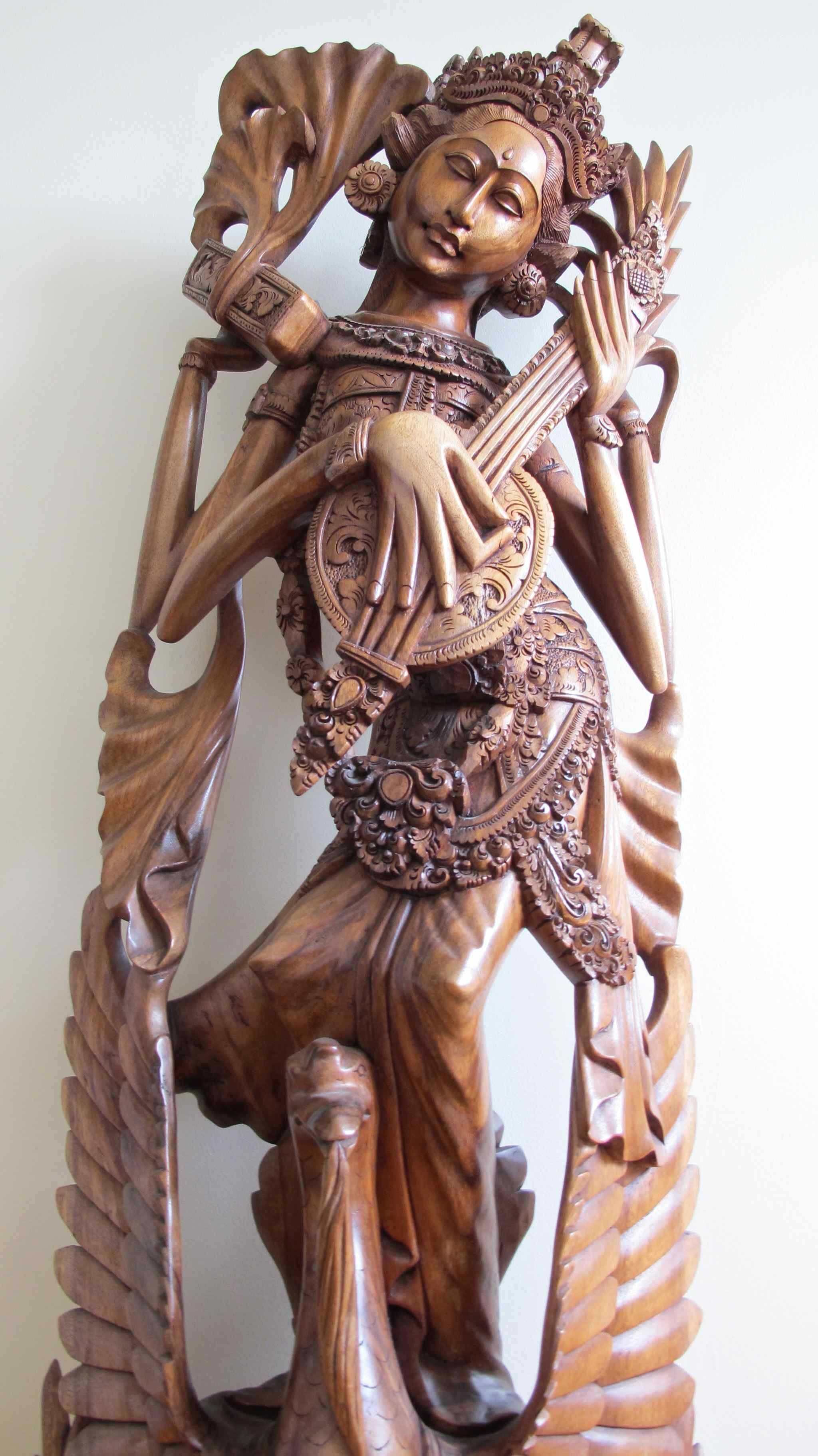 Indonesian Wood Carvings Statue