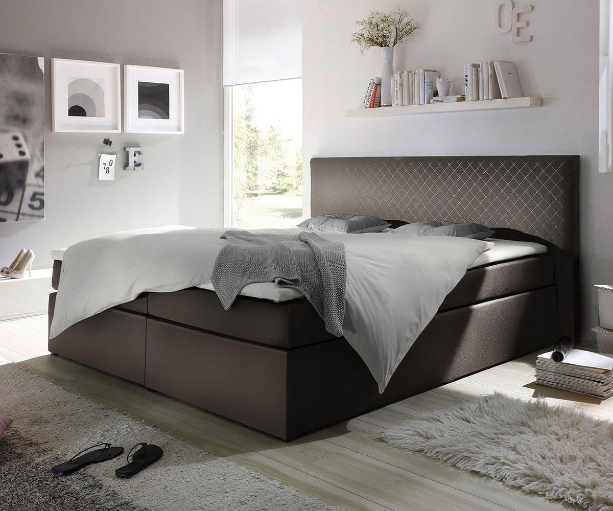 Sympathisch Boxspringbett Beige 180x200 Ideen Von #inspiration --> Möbel / Betten / Boxspringbetten