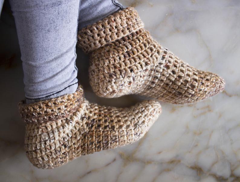 Quick Crochet Slippers #crochetformoney