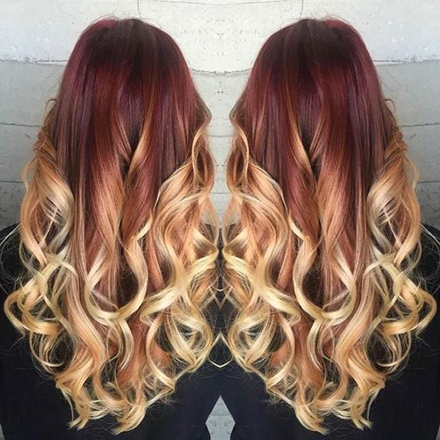 41 Hottest Balayage Hair Color Ideas For 2016 Red Blonde Blonde