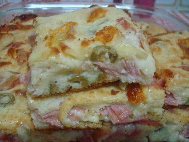 Receitas Gostosas e Fáceis .: Torta de queijo, presunto e frango