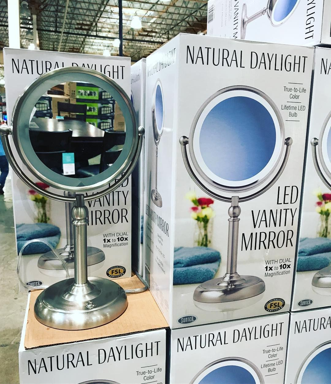 Perfect Makeup Mirror Right Now It S 5 Off Now Only 14 99 Get This Led Vanity Mirror Costco Costcodeals Memberssavin Mirror Led Mirror Led Vanity