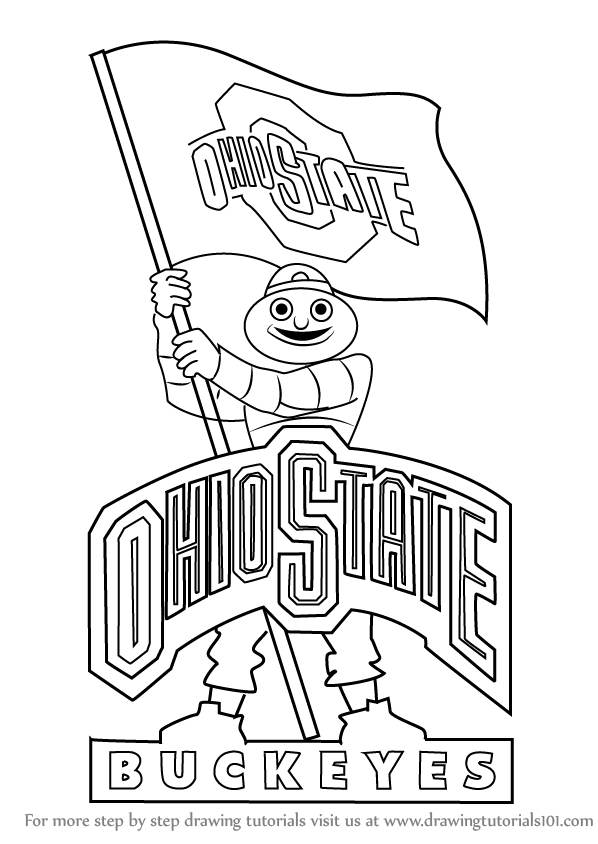 Learn How To Draw Ohio State Buckeyes Mascot Logos And Mascots Step By Step Drawing Tutorials Football Coloring Pages Ohio State Buckeyes Buckeyes