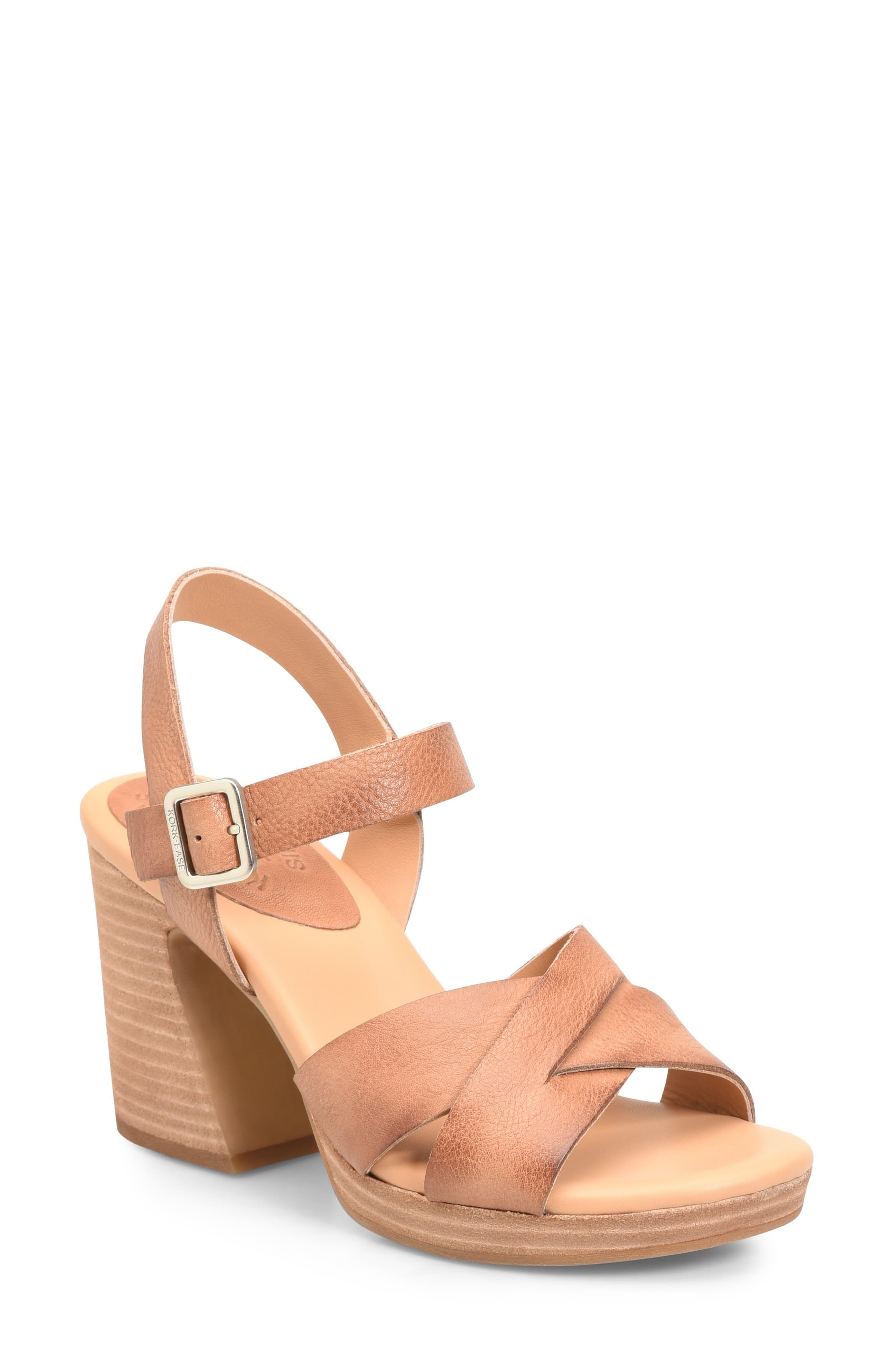 d94b09e0d0 Women's Kork-Ease Kristjana Block Heel Sandal, Size 6 M - Black in ...