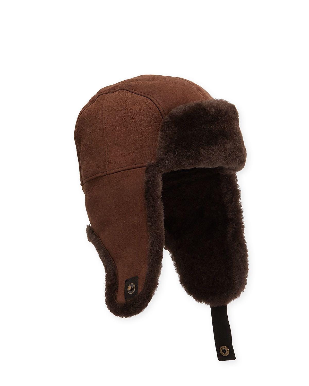 ae8f903138e78 UGG MEN S SHEARLING-LINED SHEEPSKIN TRAPPER HAT.  ugg