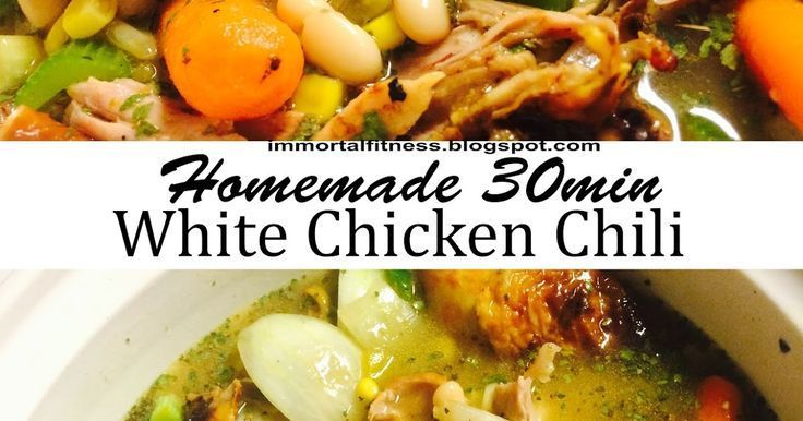 Immortal Fitness: Homemade 30 min White Chicken Chili - 21 day fix approved ,  #21dayfixwhite... #wh...