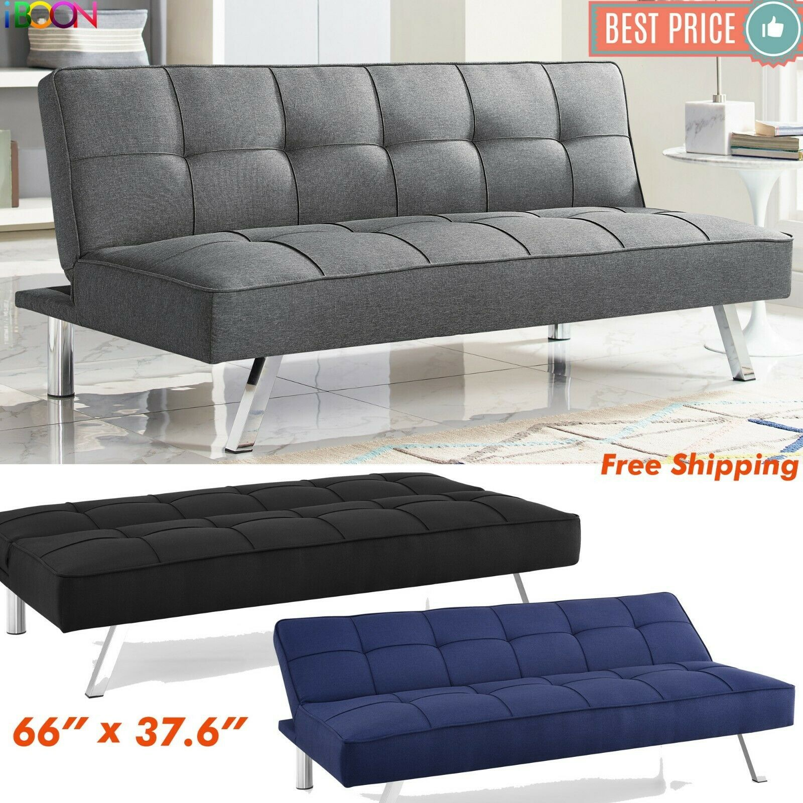 Futon Sofa Bed Sleeper Convertible Couch 3 Seat Foldable Full Size With Mattress 145 98 Lounge Seating In 2020 Futon Sofa Bed Sofa Bed Mattress Bed Mattress Sizes
