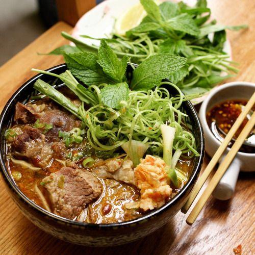 food subreddit hot posts : Spicy beef noodle soup- bun bo Hue [1728 x 1728]...