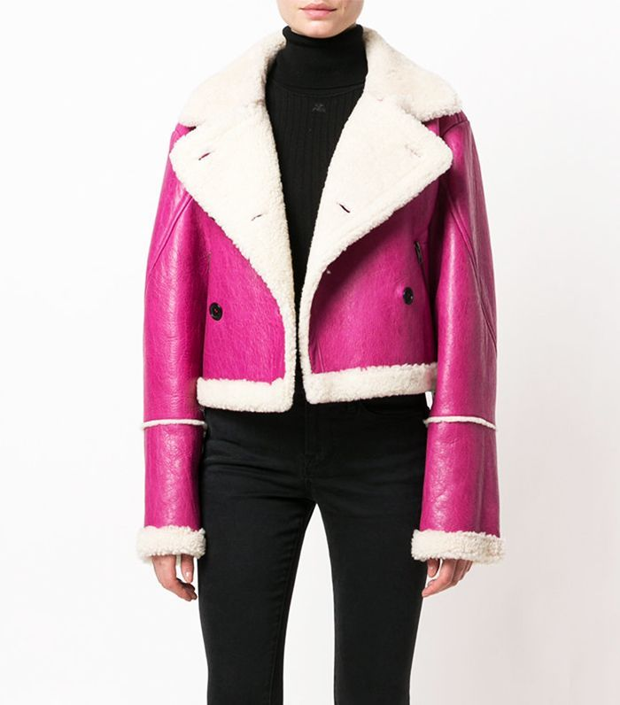 6a2de8e3654 Pink   Shearling in a one jacket! Its seriously offensive I can not afford  this jacket right now