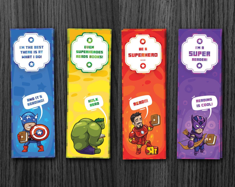 Superhero Bookmarks Avengers Bookmarks Download Bookmarks Kids Free Printable Bookmarks Bookmarks