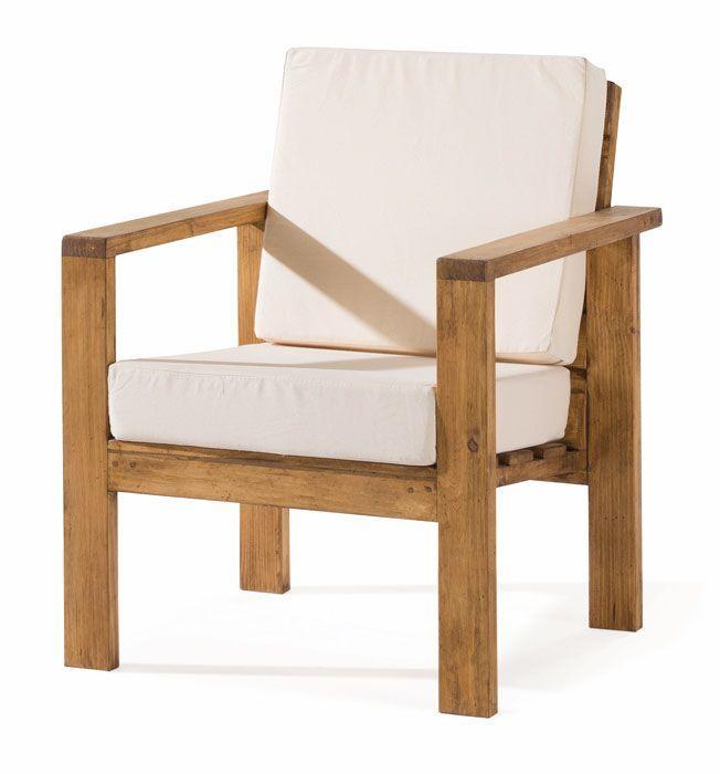 Resultado de imagen de sillones de madera terraza for Sillones de madera para terraza