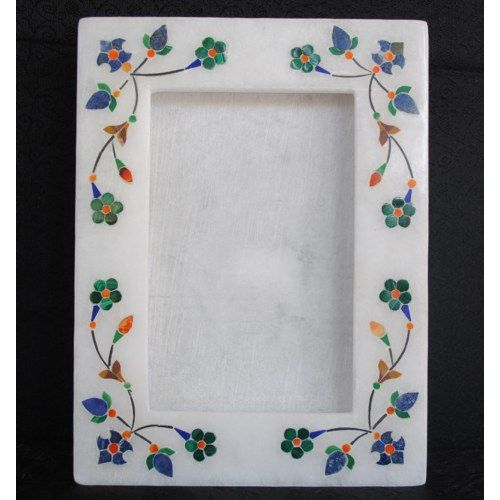 PHOTO FRAME 2 IN 1 INLAY WITH SEMI PRECIOUS STONES 0153 - Online ...