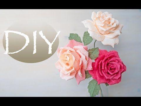 Youtube flores de papel crep pinterest youtube crepe paper art flowers youtube mightylinksfo