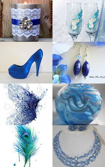 BLUE-MERRY BLUE by RosaLinda Buchner Graziano on Etsy--Pinned with TreasuryPin.com