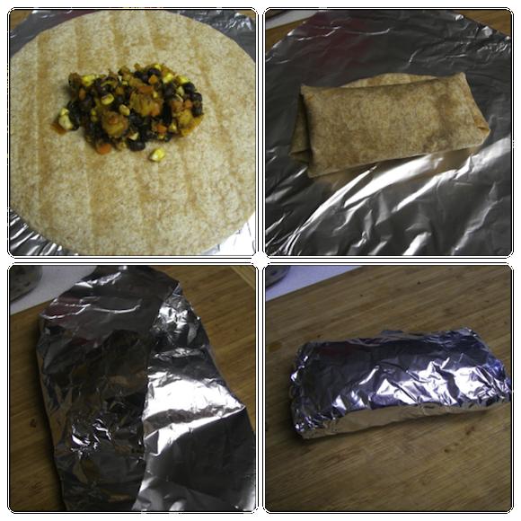 Butternut Squash Black Bean Burritos from One Small Vegan