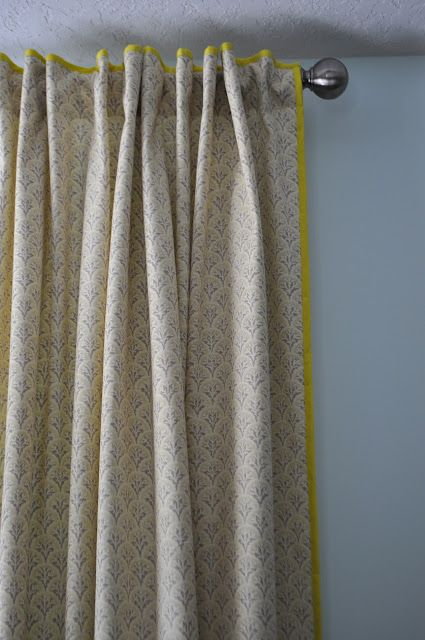 Trim Curtains With Colorful Bias Tape Curtains How To Make Curtains Diy Curtains