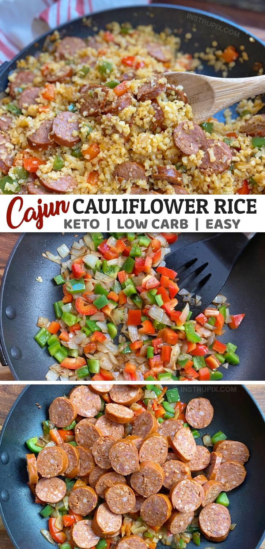 Photo of Cajun Blumenkohlreis (Easy Keto Dinner Recipe)