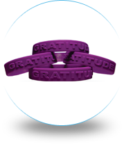 Customized Embossed wristbands with heightened font to display your message above all the rest. Embossed wristbands are great to attract masses for promoting a cause.