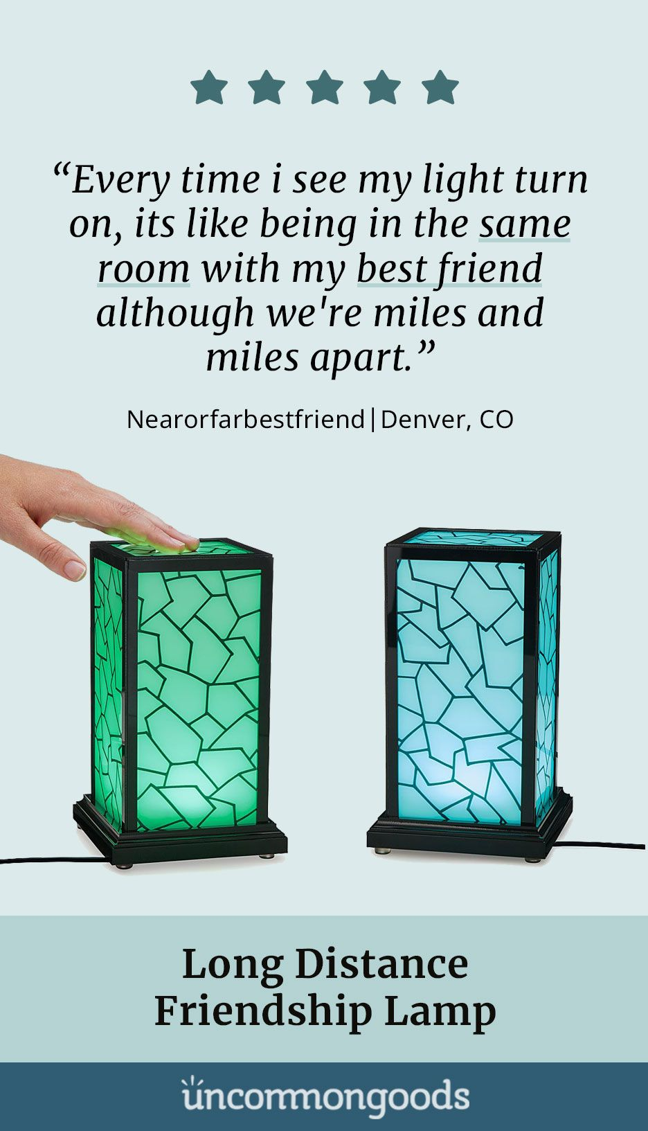 Long Distance Friendship Lamp Light Up Loved Ones Lives Across Town Or The Whole C Long Distance Friendship Long Distance Friendship Gifts Friendship Lamps
