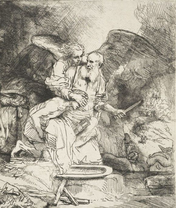 The Sacrifice Of Abraham 1655 By Rembrandt Van Rijn In