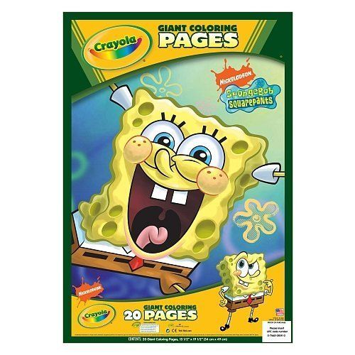 Crayola Giant Coloring Pages - Spongebob Squarepants by Crayola - new giant coloring pages crayola