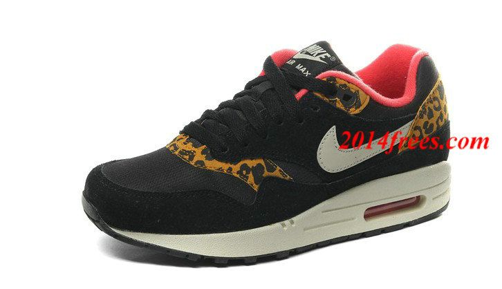 various colors e8bc3 db1af Mens  Nike  Air  Max 1 Leopard Pack Black Sandtrap Dark Gold Leaf Sunburst  Sneakers  Black  Womens  Sneakers