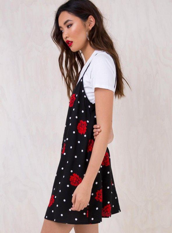 Motel Cuban Rose Sanna Slip Dress