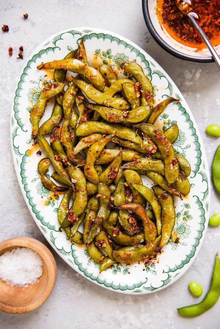 Spicy Roasted Edamame