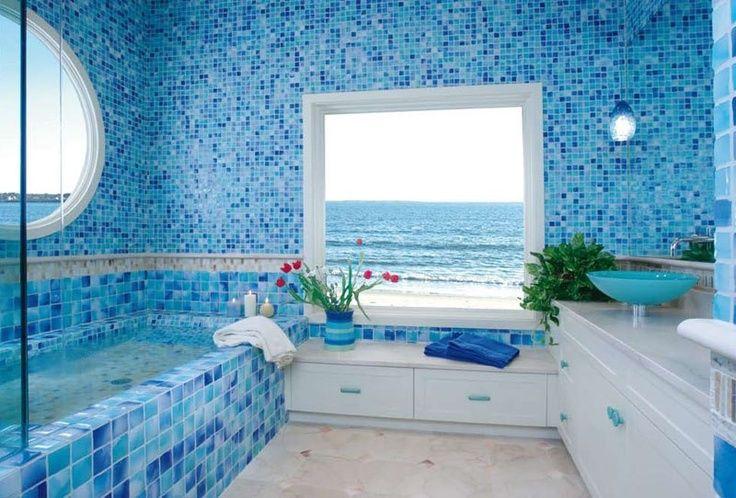 Beautiful And Elegant Sea Themed Bathroom Bathroom Colors