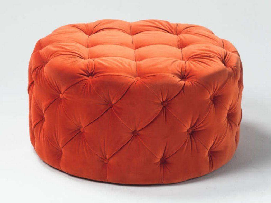 orange ottoman round ottoman round