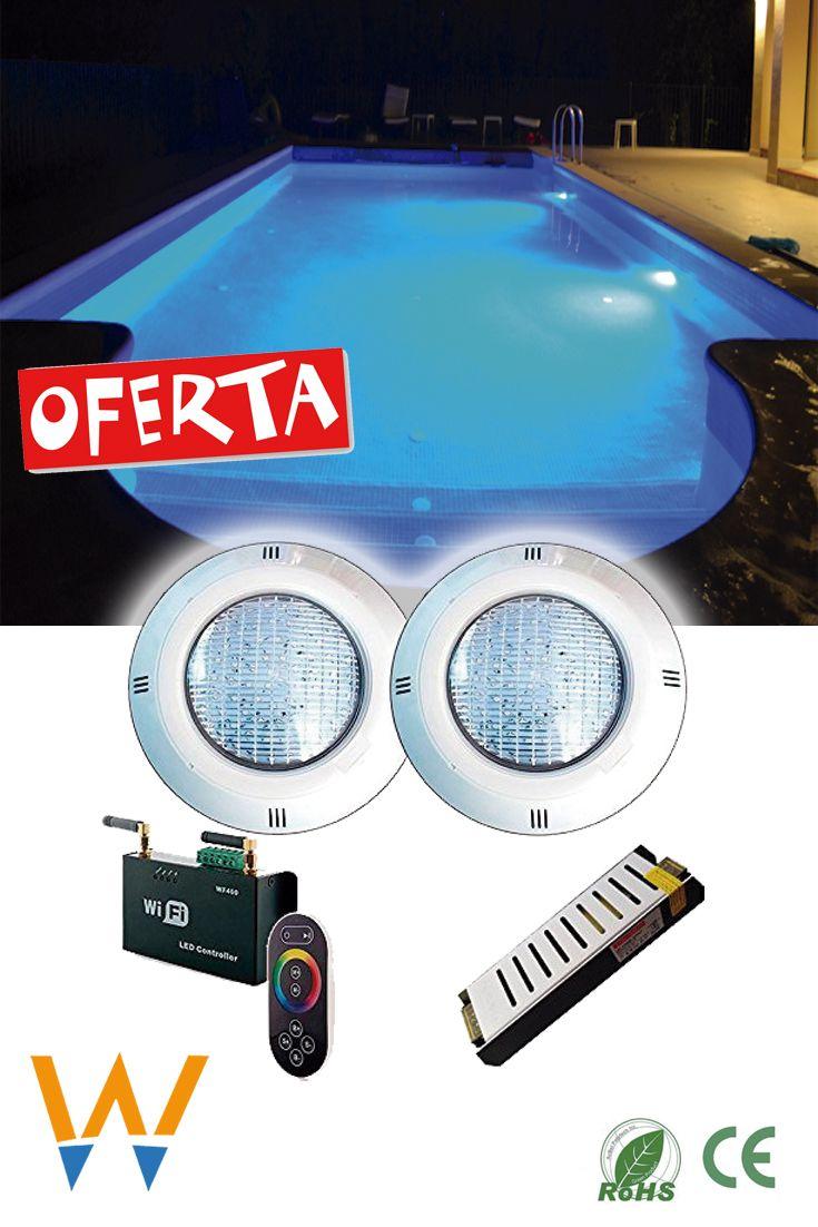 Oferta 2 Focos Rgb Transformador Controlador 238 50 2 Proyectores De Superficie Para Piscina Maxima Potencia Y Eficien Focos Focos Para Piscinas Piscinas