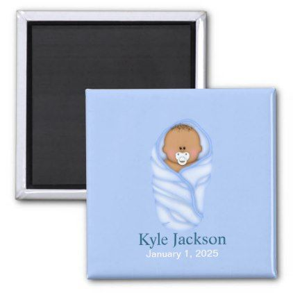 Personalized baby african american boy magnet baby gifts child personalized baby african american boy magnet baby gifts child new born gift idea diy cyo negle Images