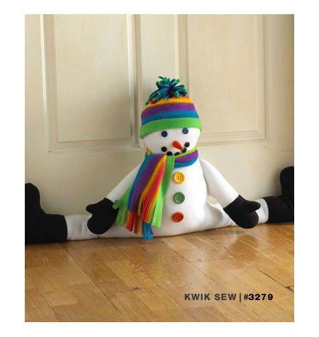 Kwik coser 3279 Snowman y Santa proyecto Stoppers patrón de