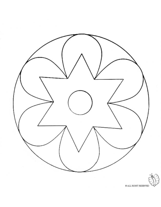 disegno mandala 2 disegni da colorare e stampare gratis