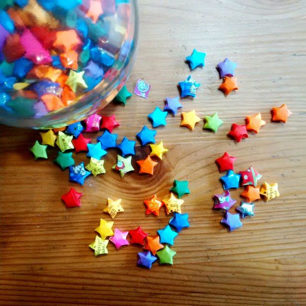 Origami Wishing Stars Aka Lucky Stars Makes You Think