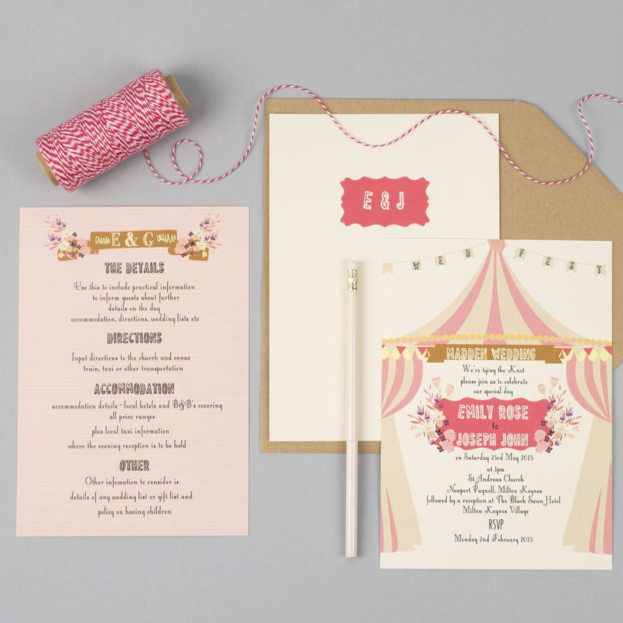Are You Interested In Our Vintage Wedding Invites With Circus Funfair Themed