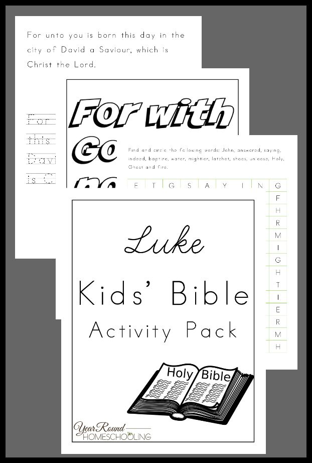 Luke Kids' Bible Activity Pack - By Year Round ...