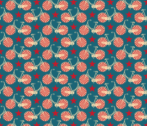 Circus Bicycles fabric by pennycandy on Spoonflower - custom fabric