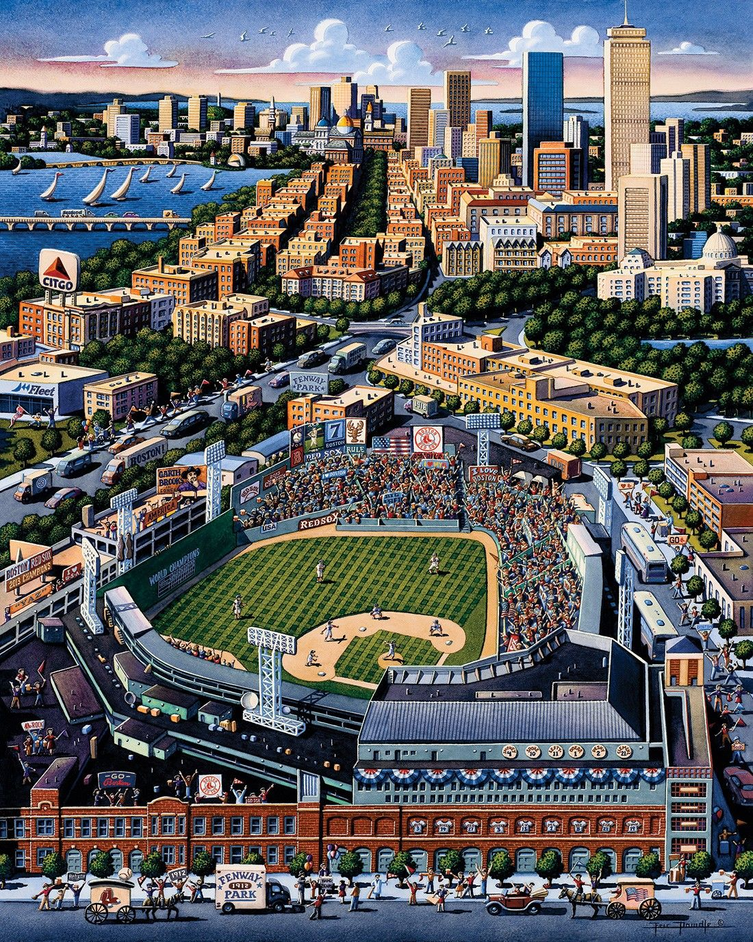 Boston Red Sox Stadium by Eric Dowdle | Paintings by Eric dowdle ...