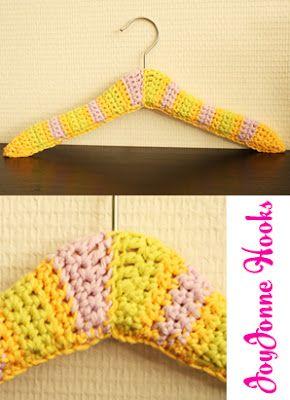 JoyJonne Hooks Clothes Hanger, #loveit! #DIY #Crochet #haken