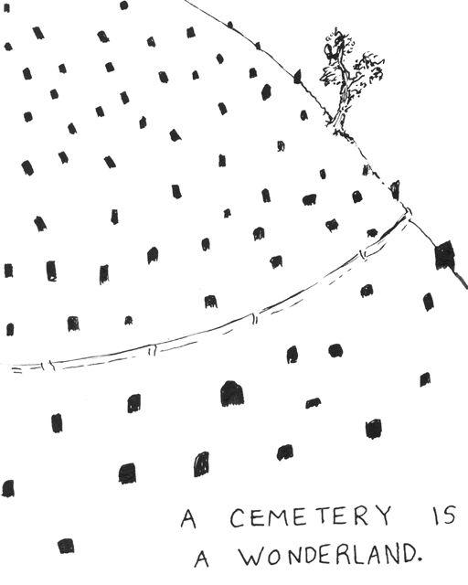 Cemetery Wonderland // Hallie Bateman for The Bygone Bureau