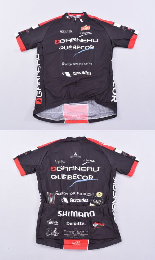 Jerseys 56183  Garneau Equipe Pro Replica Jersey Men S Medium Team Quebecor  Black Cycling - 953354b40
